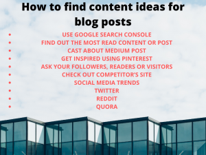 how to find content ideas for blog posts